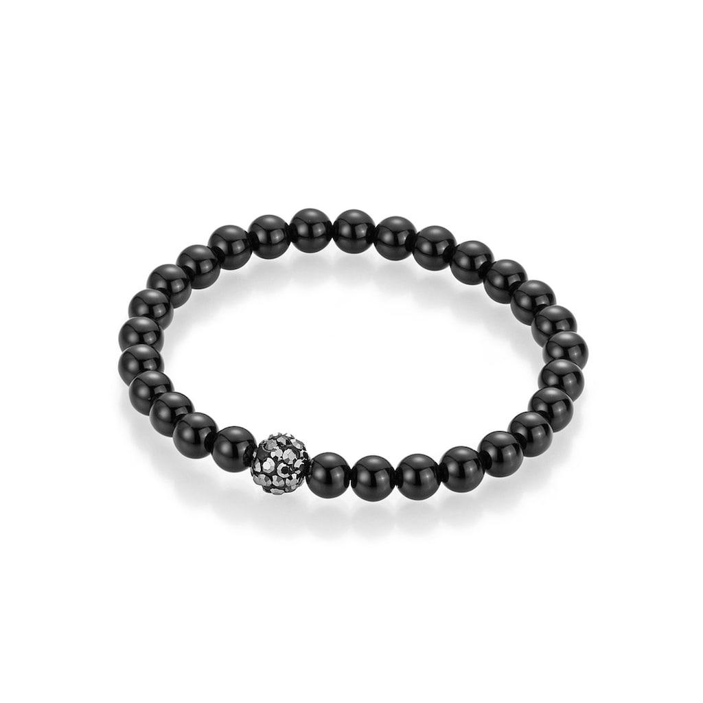 Firetti Armband »Perlen aus Achat«, mit Achat und Kristallsteinen