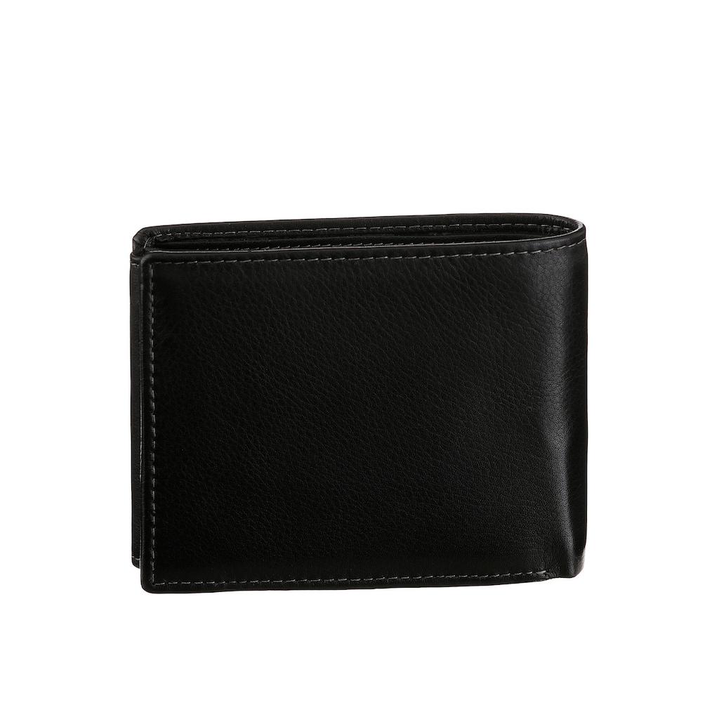 GreenLand Nature Geldbörse »Black Nappa«, aus Leder, mit RFID Ausstattung