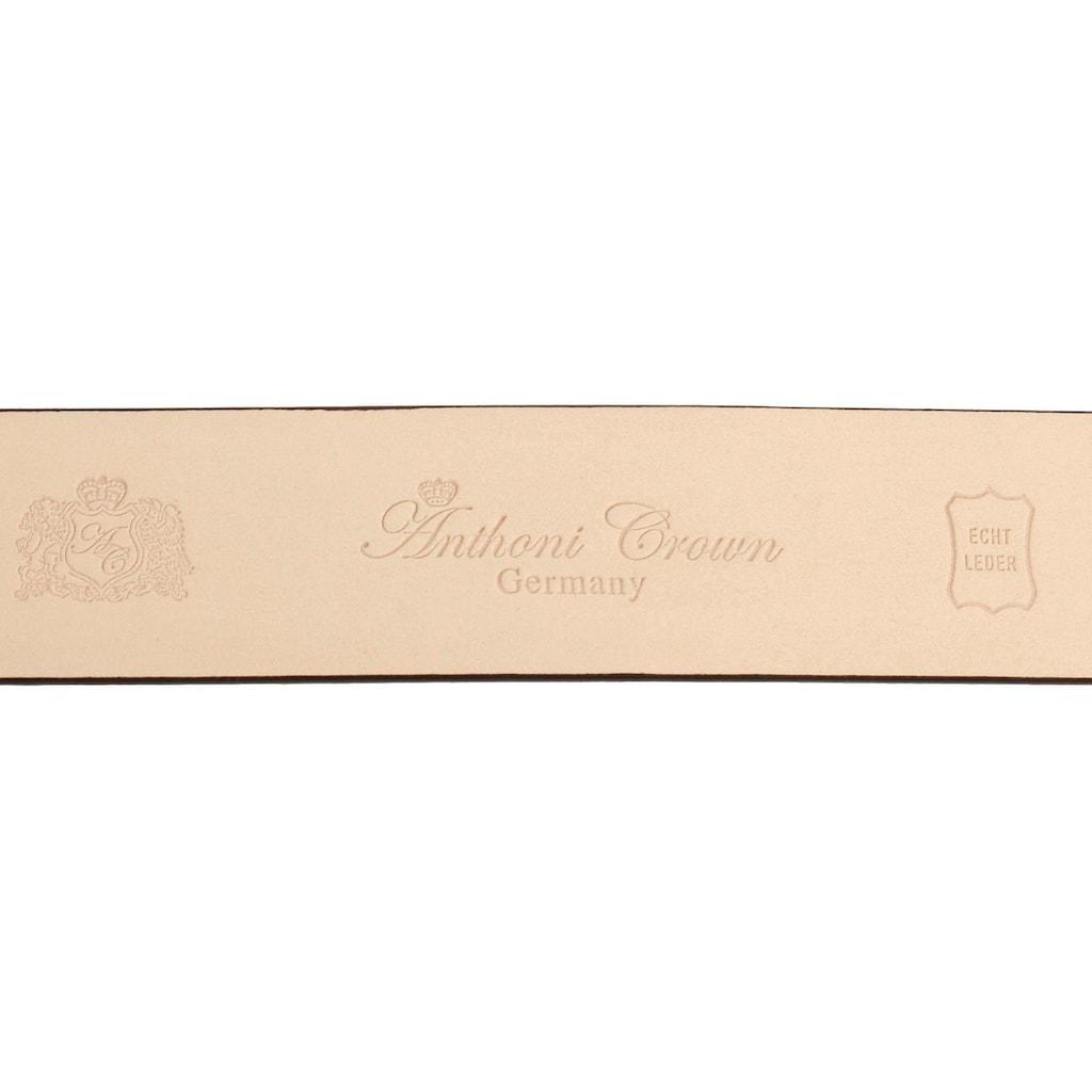 Anthoni Crown Ledergürtel, mit altmesssingfarbener Schliesse