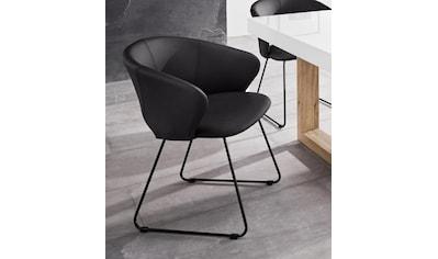 INOSIGN Esszimmerstuhl »Plymouth«, mit einem schönen Kunstleder Bezug und einem schwarzen Metallgestell in Kufen Form, Sitzhöhe 47 cm kaufen