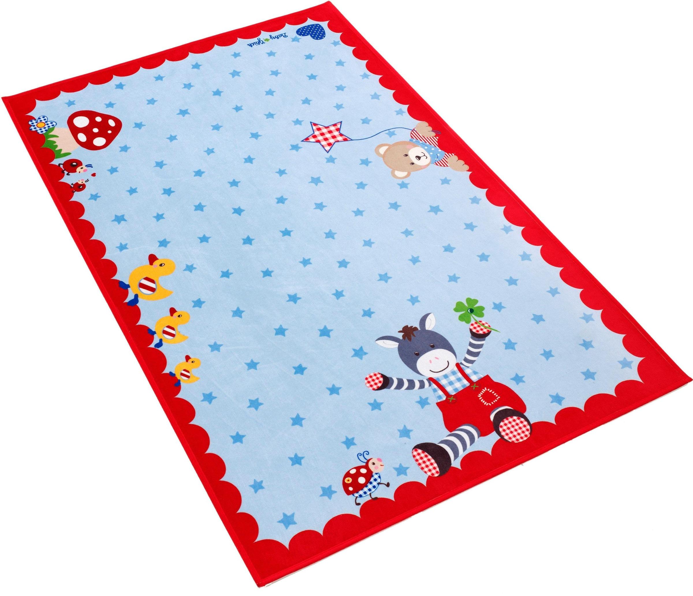 Image of Babyglück Kinderteppich »Babyglück 715«, rechteckig, 6 mm Höhe, Stoff Druck, weiche Mircofaser