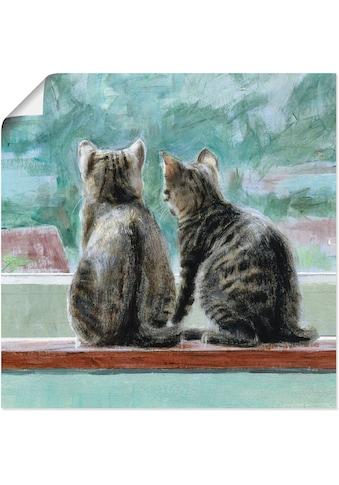 Artland Wandbild »Schöne Aussicht«, Haustiere, (1 St.), in vielen Grössen &... kaufen