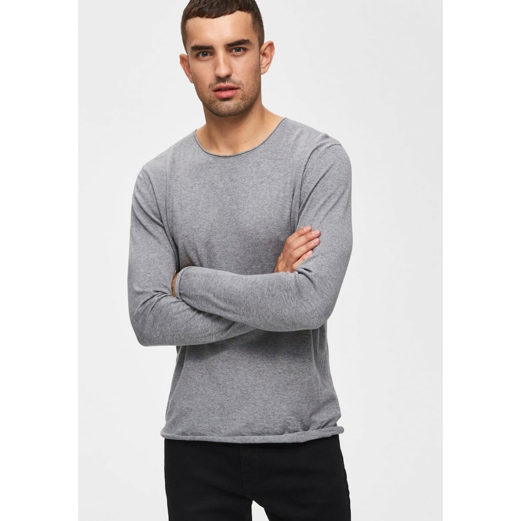 SELECTED HOMME Rundhalspullover »DOME CREW NECK«