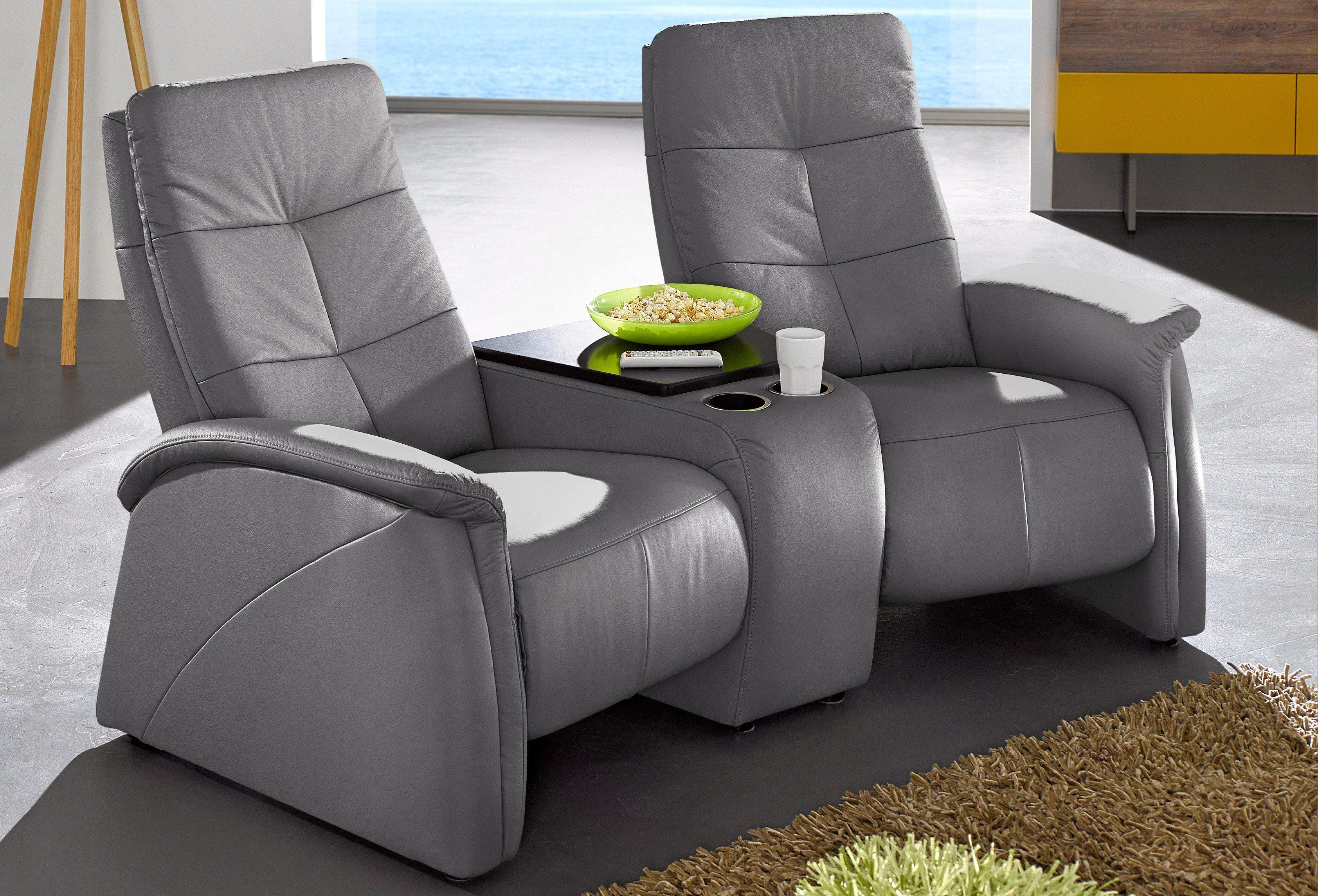 Image of 2-Sitzer, City Sofa, mit Relaxfunktion, integrierter Tischablage und Stauraumfach