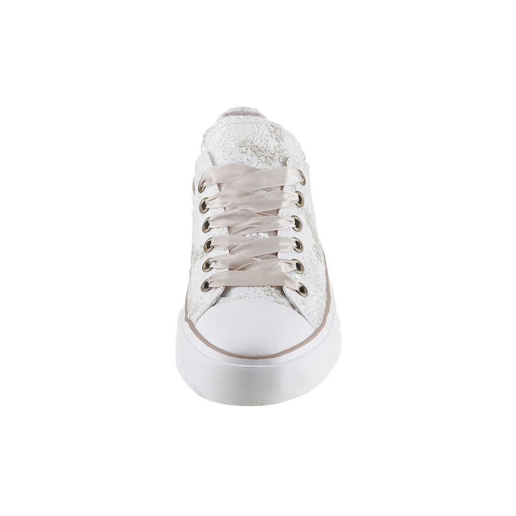 Krüger Madl Sneaker »Pearl«, mit zarter Stickerei