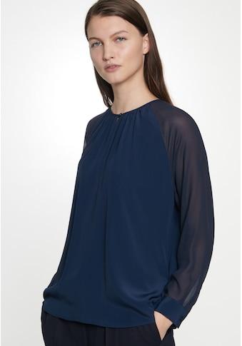 seidensticker Shirtbluse »Schwarze Rose«, Langarm Rundhals Uni kaufen