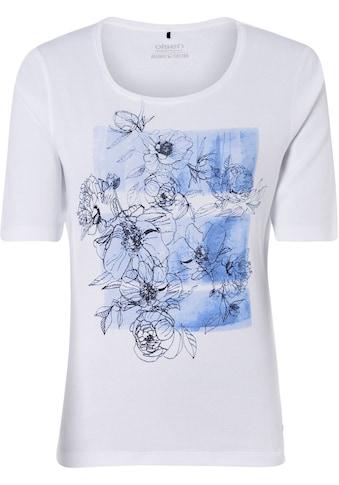 Olsen Rundhalsshirt, aus organic Cotton, mit Front-Print kaufen