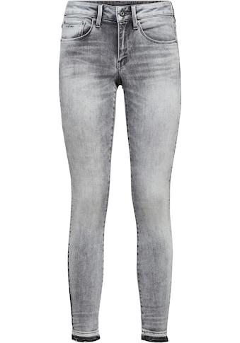 G-Star RAW Ankle-Jeans »3301 Mid Skinny RP Ankle Jeans«, mit leicht ausgefranster Kante am Saumabschluss kaufen