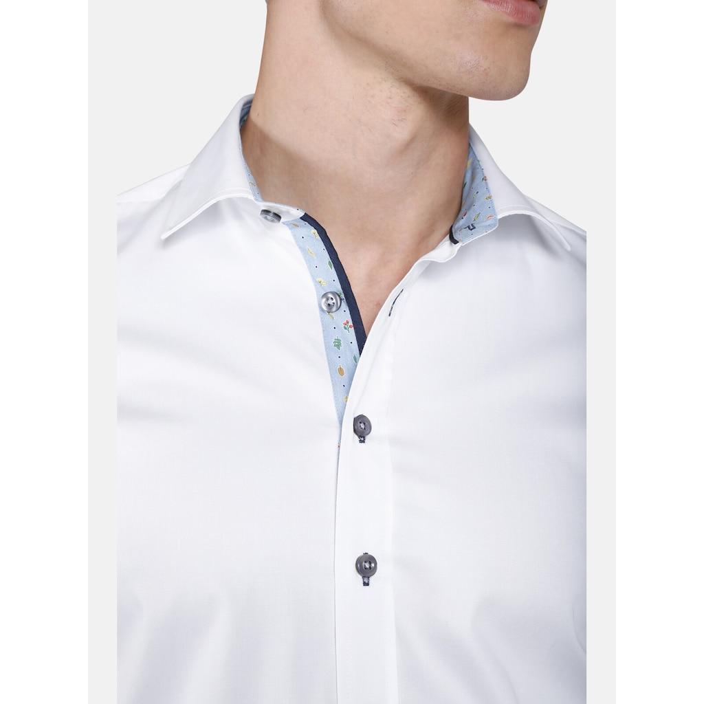 SHIRTMASTER Langarmhemd »leavesfalling«, mit detaillierten Kontrasten
