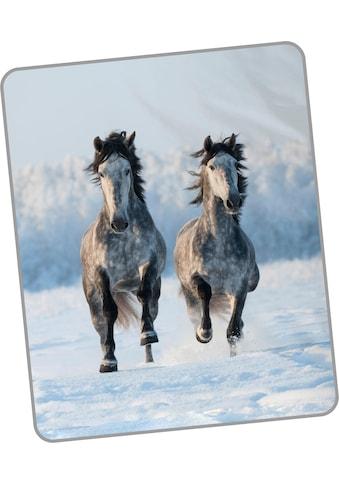 Wohndecke »Snowhorses«, good morning kaufen