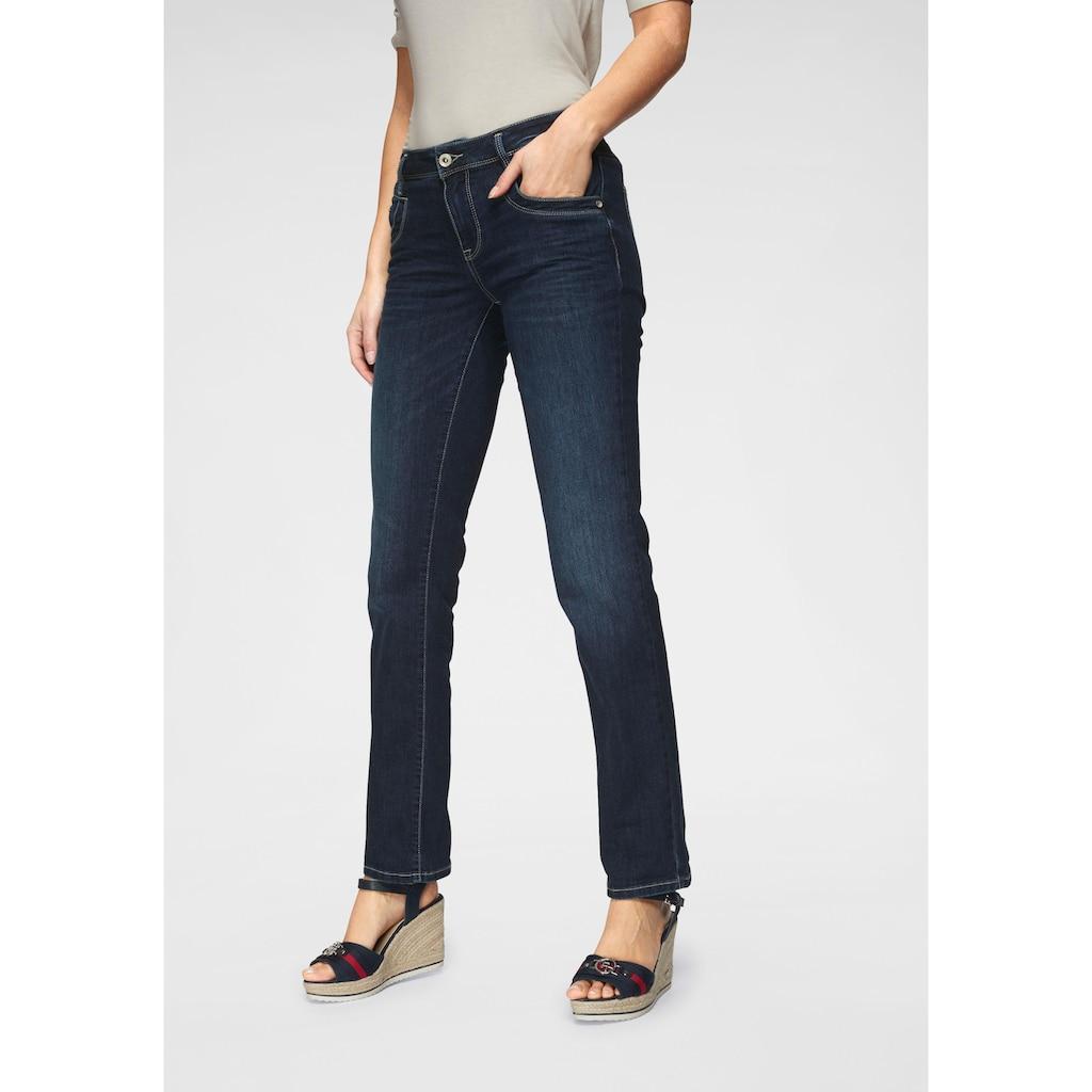 TOM TAILOR Gerade Jeans, mit Kontrastnähten