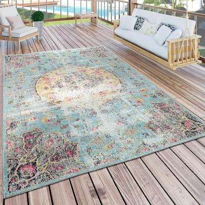 bunter Outdoor-Teppich