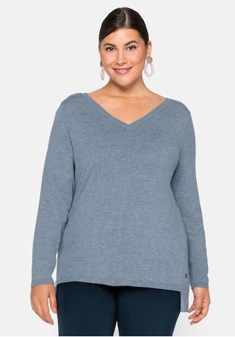 Sheego V-Ausschnitt-Pullover, in weichem Feinstrick kaufen