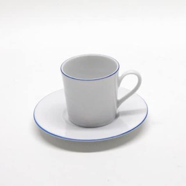 2tlg Set Kaffeetasse mit Untertasse Classico weiß Tasse Geschirr Porzellan
