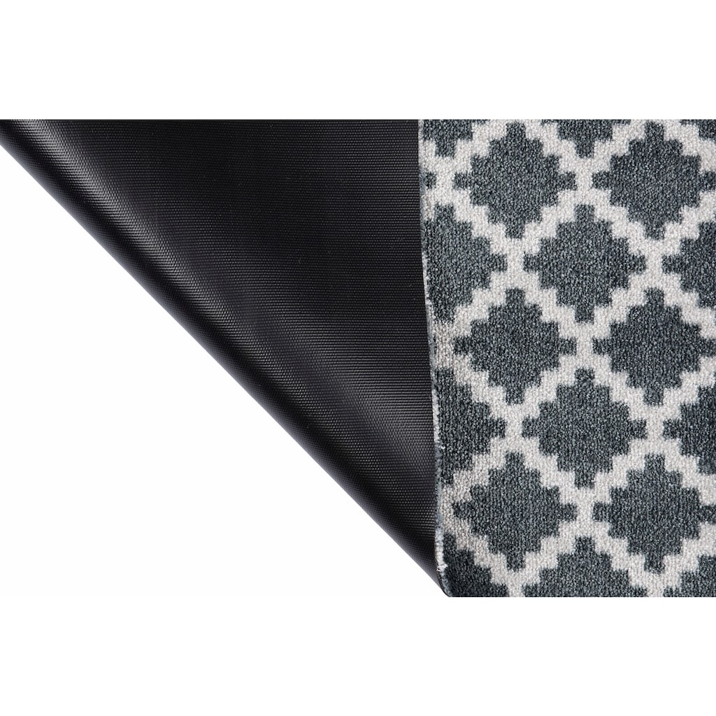 Zala Living Fussmatte »Elegance«, rechteckig, 7 mm Höhe, Schmutzfangmatte, Rauten Design, In- und Outdoor geeignet, waschbar