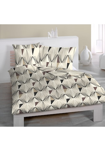 HOME FASHION Bettbezug »Zamba mit grafischem Muster«, (1 St.), verdeckter Reissverschluss kaufen