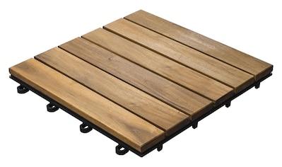 florco® Terrassenplatten »Akazie, 5 Latten 30 x 30, 5 Stk.« kaufen
