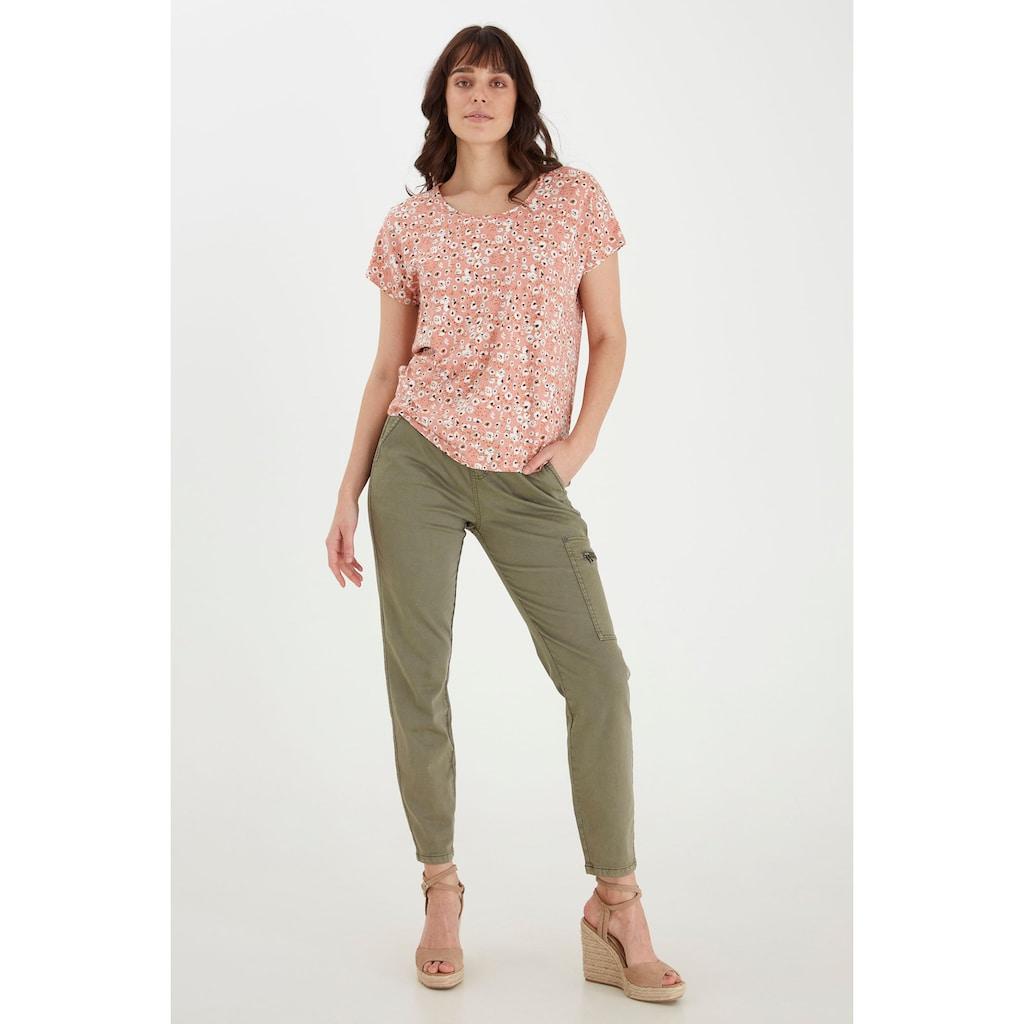 fransa T-Shirt »Fransa Damen Shirt mit Allover Print«, T-Shirt mit Print