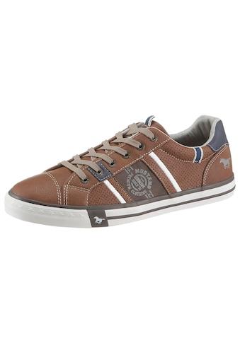 Mustang Shoes Slip-On Sneaker, mit aufgesetzten Schnürsenkeln kaufen