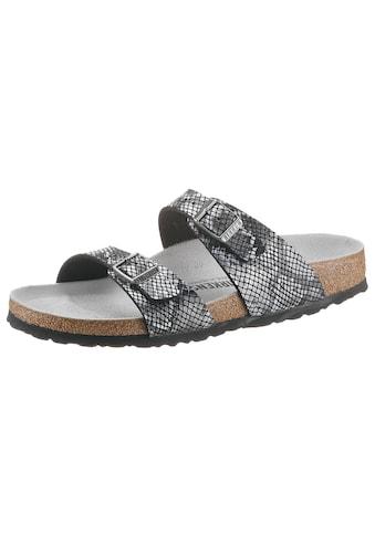 Birkenstock Pantolette »SYDNEY PYTHON«, in angesagter Schlangenoptik, schmale Schuhweite kaufen