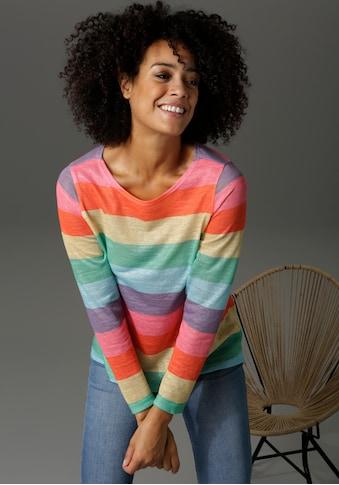 Aniston CASUAL Langarmshirt, mit farbstarken Streifen kaufen
