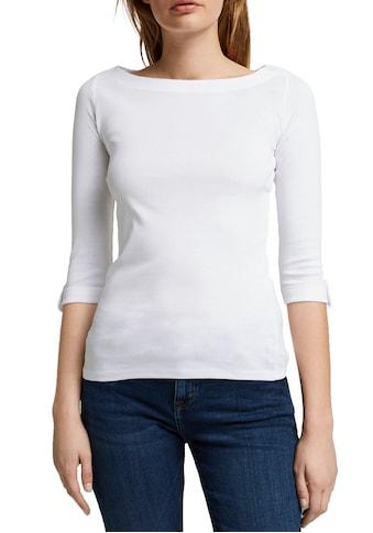 Esprit 3/4-Arm-Shirt, mit kleinem Riegel am Ärmelsaum kaufen