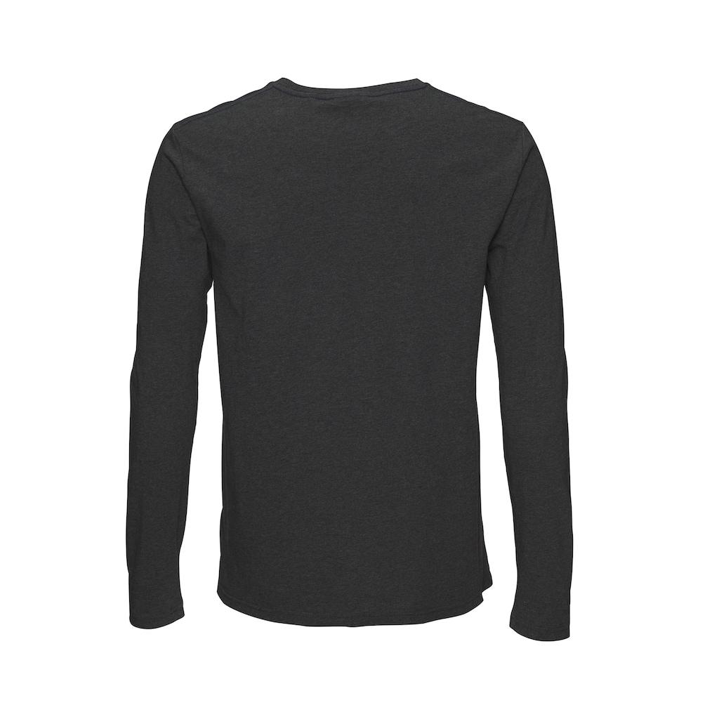 Gant Langarmshirt, Grossflächiger Markenprint auf der Brust