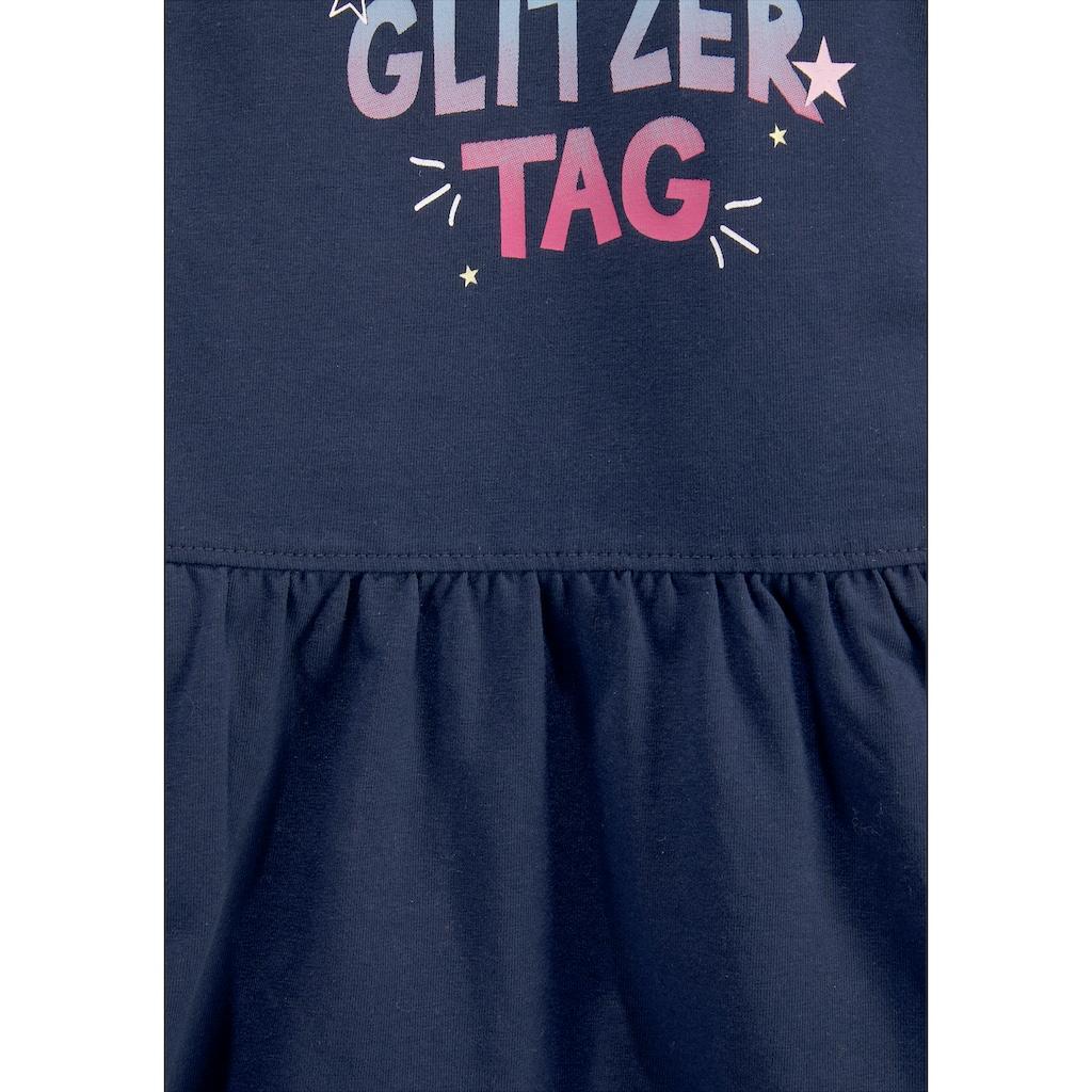 Arizona Jerseykleid »HAPPY GLITZER TAG«