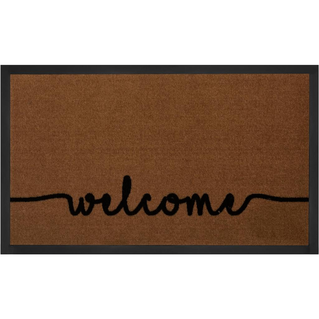 HANSE Home Fussmatte »Cozy Welcome«, rechteckig, 5 mm Höhe, Schmutzfangmatte, mit Spruch, In- und Outdoor geeignet, waschbar