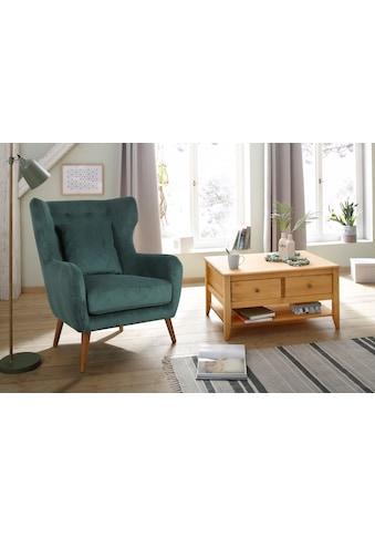 Home affaire Ohrensessel »Yamuna«, mit toller Sitzpolsterung, Gestell und Füsse aus Massivholz, Sitzhöhe 57 cm kaufen