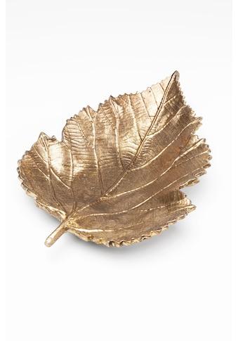 KARE Dekoschale »Leaf Goldfarben« kaufen