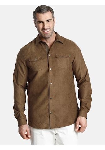 Charles Colby Langarmhemd »DUKE ETHAN«, tragbar auch als leichte Jacke kaufen
