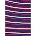 AJC Strickkleid, mit gestricktem Rüschensaum & farbigen Streifen