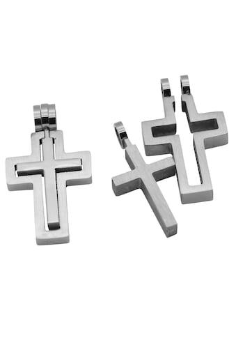 Firetti Anhänger Set »2-tlg. Set, Kreuze, Glanzoptik, massiv«, (Set, 2 tlg.), Made in... kaufen