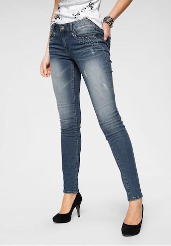Arizona Slim - fit - Jeans »mit Glitzersteinchen« kaufen