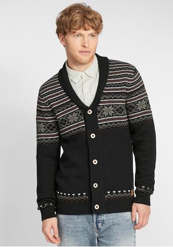 Blend Strickjacke »Velero«, Cardigan im Norweger-Muster mit detailreichen Knöpfen kaufen