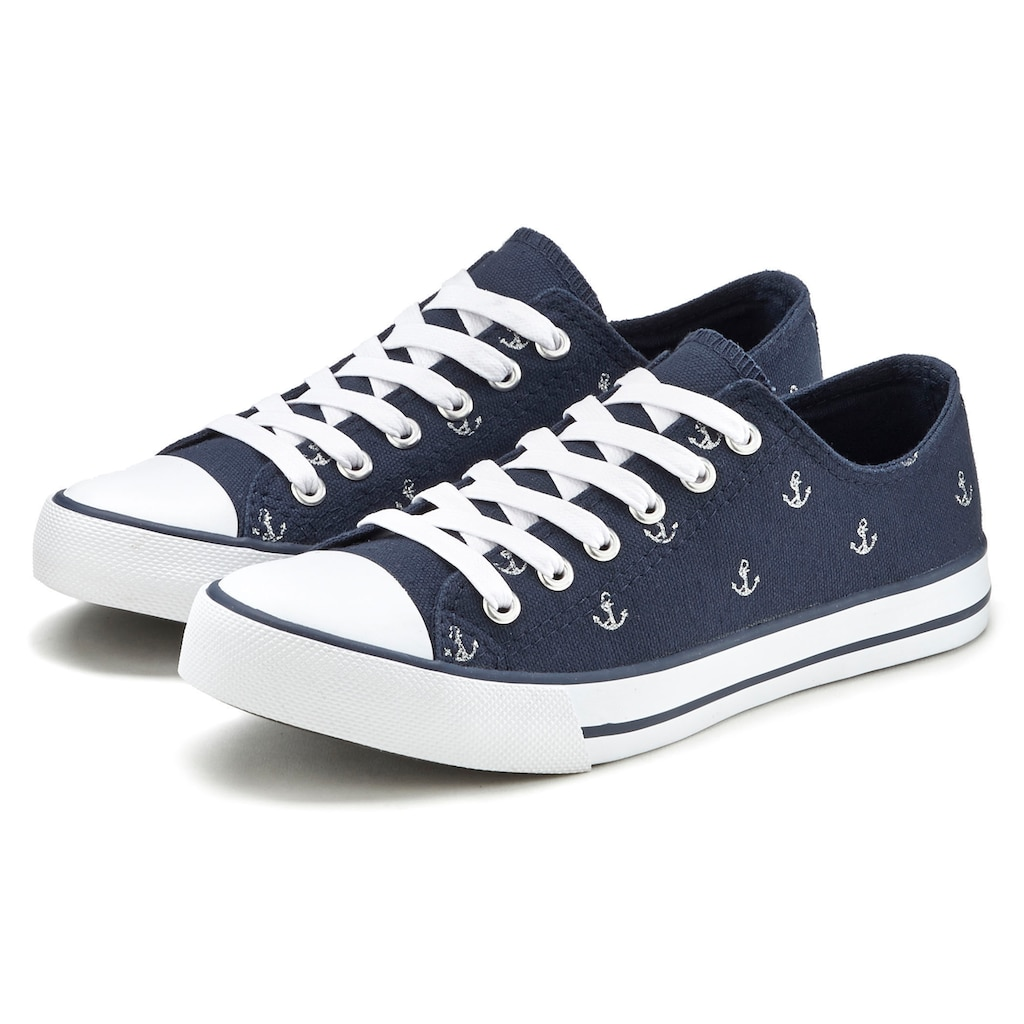 LASCANA Sneaker, mit Ankerprint