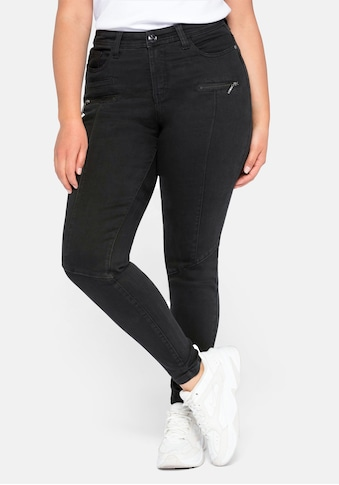 Sheego Stretch-Jeans, Skinny mit Teilungsnähte kaufen
