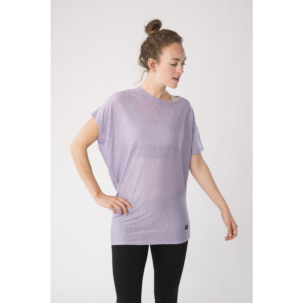 SUPER.NATURAL T-Shirt »W YOGA LOOSE TEE«, bequemer Merino-Materialmix