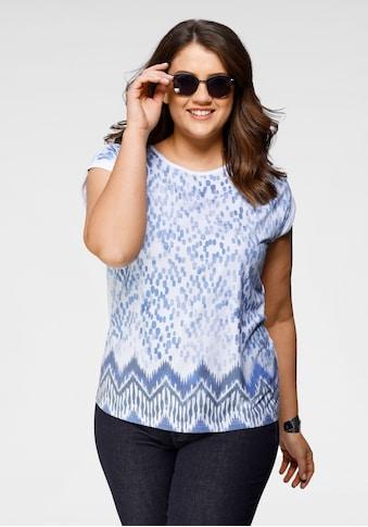 Boysen's Rundhalsshirt, Boysen's T-Shirt mit überschnittenen Schultern & all over Druck kaufen