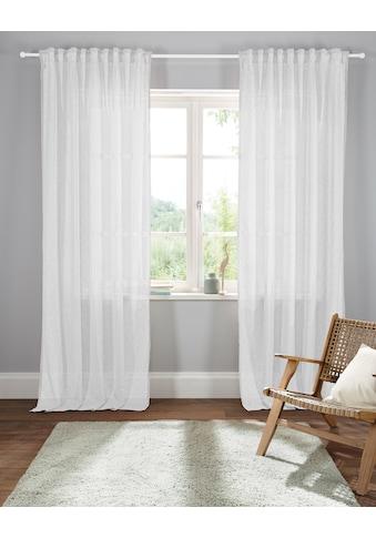 Home affaire Gardine »Larvik«, transparent, Leinen Optik, HxB: 300x140 kaufen