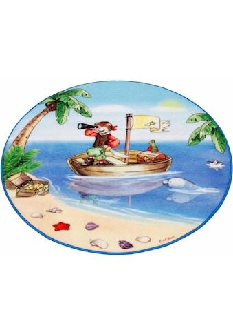 Böing Carpet Kinderteppich »Lovely Kids LK-1«, rund, 2 mm Höhe, Motiv Pirat kaufen