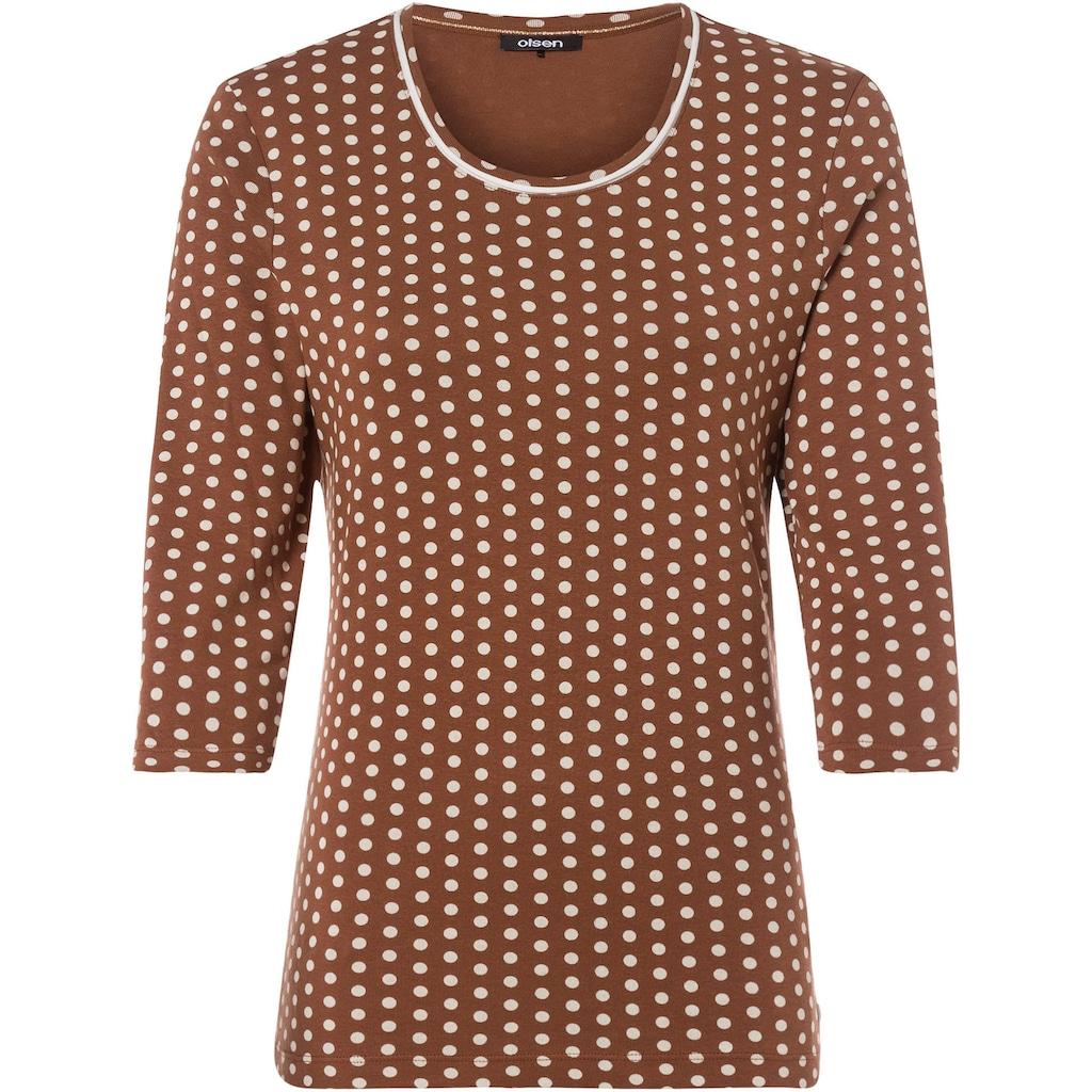 Olsen Print-Shirt, mit Pünktchen-Allover-Print