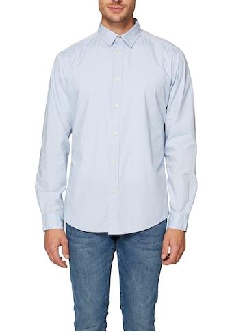 Esprit Langarmhemd, mit Abnähern für eine schmale Passform kaufen