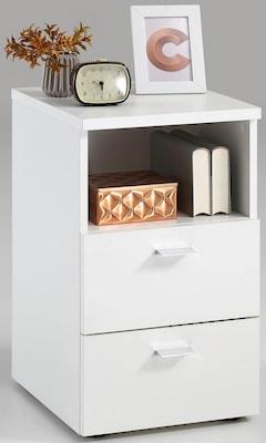moderner, weißer Nachttisch