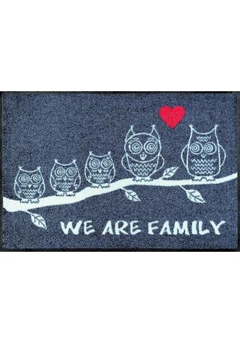 wash+dry by Kleen-Tex Fussmatte »We are Family«, rechteckig, 7 mm Höhe,... kaufen