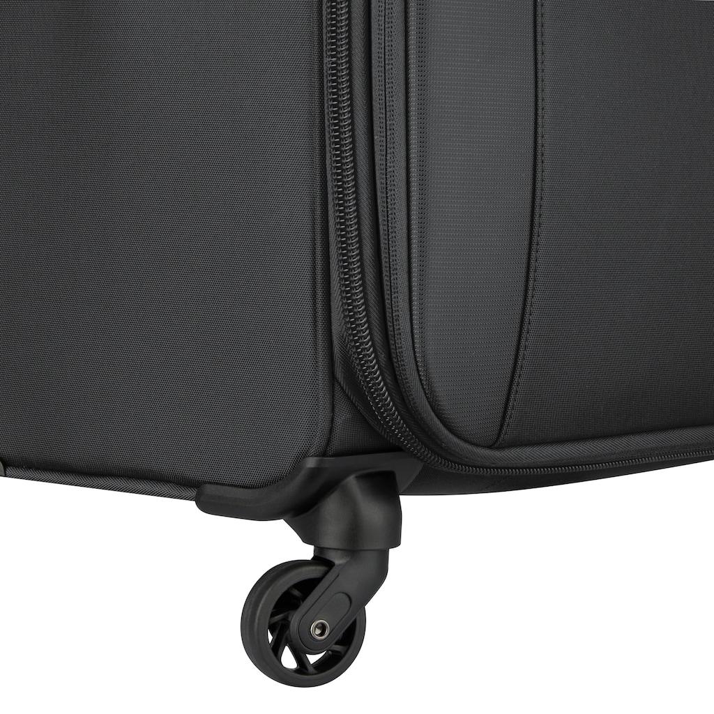 Delsey Weichgepäck-Trolley »Mercure, 68 cm, black«, 4 Rollen, mit Volumenerweiterung