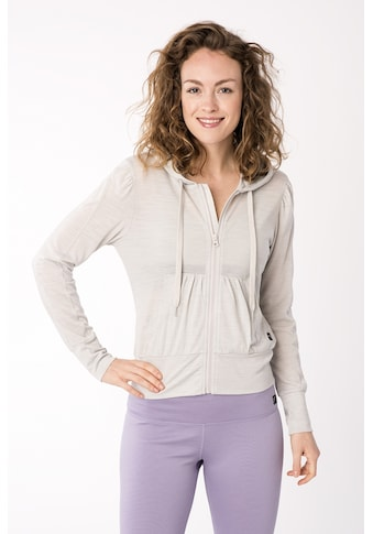 SUPER.NATURAL Kapuzensweatjacke »W HOODED COVER UP«, angenehmer Merino-Materialmix kaufen