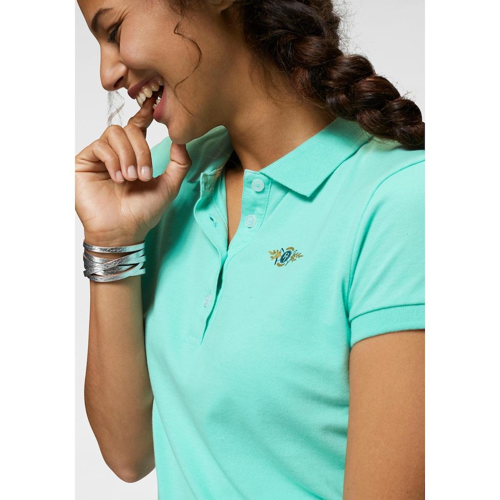 TOM TAILOR Polo Team Poloshirt, mit Logodruck auf Brusthöhe
