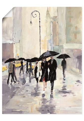 Artland Wandbild »Stadt im Regen«, Gruppen & Familien, (1 St.), in vielen Grössen &... kaufen